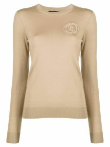 Dsquared2 logo-print slim-fit jumper - NEUTRALS