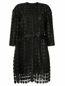 Karl Lagerfeld embroidered circle lace coat - Black