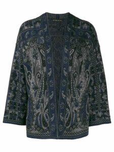 Etro paisley kimono cardigan - Blue
