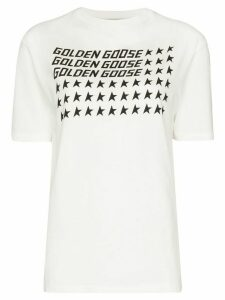 Golden Goose flag-print cotton T-shirt - White