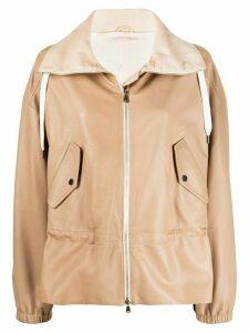 Brunello Cucinelli drawstring collar hoodie - NEUTRALS