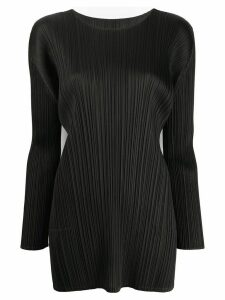 Pleats Please Issey Miyake pleated basic blouse - Black
