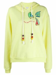 Mira Mikati embroidered hoodie - Yellow