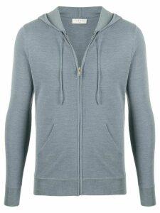 Sandro Paris drawstring knitted hoodie - BLUISH GREY