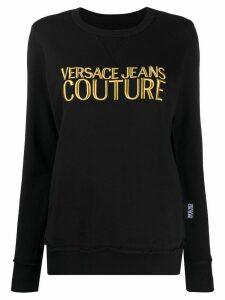Versace Jeans Couture crew neck embroidered sweatshirt - Black