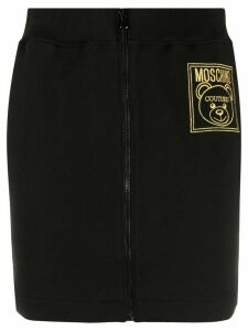 Moschino logo track skirt - Black
