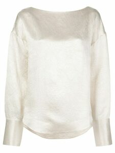Co crease detail blouse - White