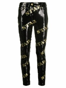 Moschino star sequin trousers - Black