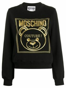 Moschino logo sweatshirt - Black