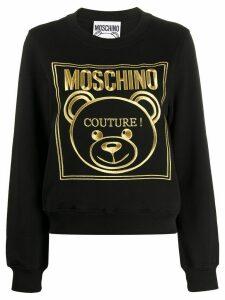 Moschino logo sweatshirt - Black