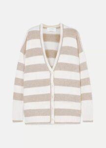 La Ligne - Martha Striped Wool And Cashmere-blend Cardigan - Cream