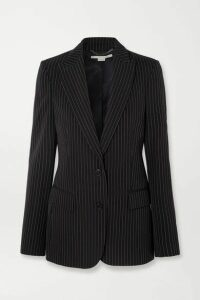Stella McCartney - Pinstriped Wool-twill Blazer - Midnight blue