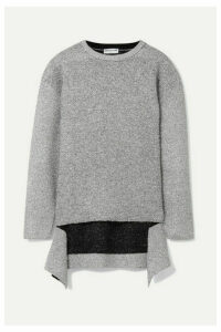 Balenciaga - Metallic Knitted Sweater - Silver