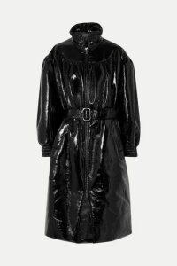Miu Miu - Belted Vinyl Coat - Black