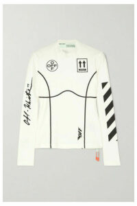 Off-White - Printed Stretch-jersey Top - IT36