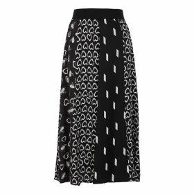Alice + Olivia Melda Printed Midi Skirt