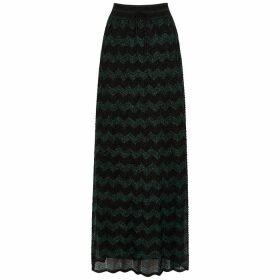 M Missoni Zigzag Metallic-knit Maxi Skirt