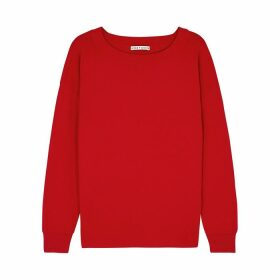 Alice + Olivia Ruela Red Split-back Jumper