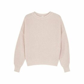 Max Mara Leisure Elisir Blush Ribbed Cotton Jumper