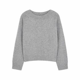 Vince Grey Cashmere And Silk-blend Jumper