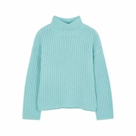 Vince Blue Chunky-knit Wool-blend Jumper