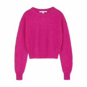 Veronica Beard Melina Fuschia Knitted Jumper