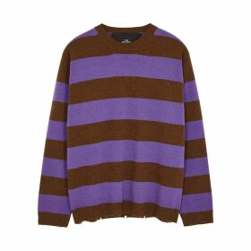 Marc Jacobs Striped Distressed Wool Jumper