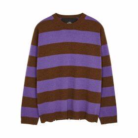 Marc Jacobs Striped Distressed Wool Jumper