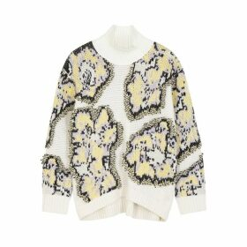 3.1 Phillip Lim Cream Intarsia Chunky-knit Cotton-blend Jumper