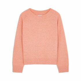 Vince Peach Cashmere And Silk-blend Jumper