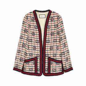 Gucci GG-intarsia Tweed Cardigan
