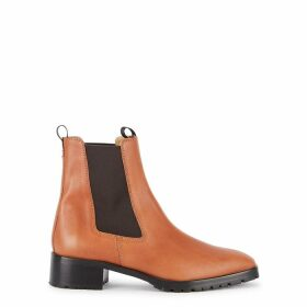 AEYDE Karlo 40 Brown Leather Chelsea Boots
