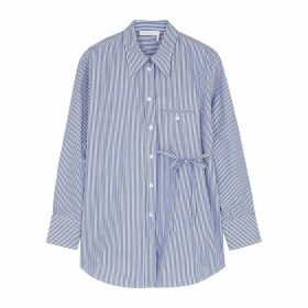 Chloé Blue Pinstriped Cotton Shirt