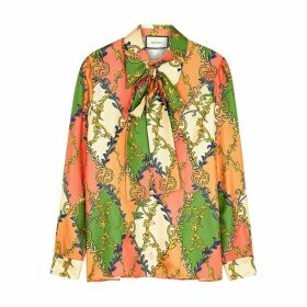 Gucci Printed Silk-twill Blouse