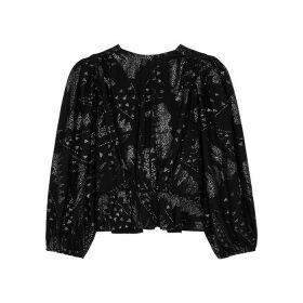 Isabel Marant Vyama Black Glittered Top