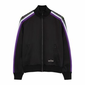 Marc Jacobs Black Logo-jacquard Jersey Sweatshirt