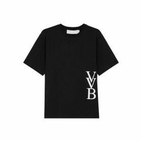 Victoria, Victoria Beckham Black Logo-print Cotton T-shirt