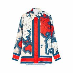 Victoria, Victoria Beckham Printed Satin Shirt