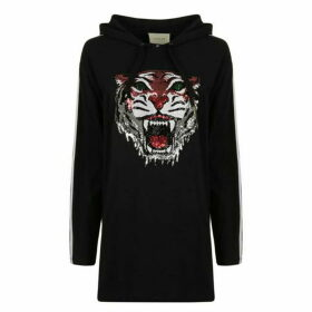 Gucci Sequinned Tiger Hooded Sweatshirt