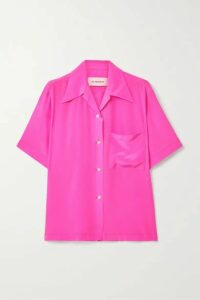 Les Rêveries - Silk Crepe De Chine Shirt - Pink