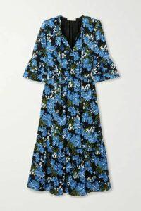 MICHAEL Michael Kors - Floral-print Crepe Midi Dress - Blue
