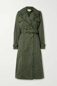MICHAEL Michael Kors - Madi Cotton-gabardine Trench Coat - Army green