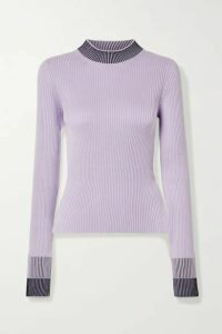 Maison Margiela - Ribbed Cotton-blend Sweater - Lavender