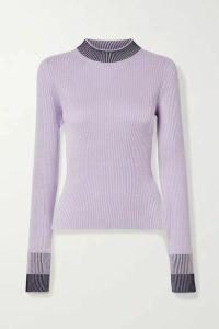 Maison Margiela - Ribbed Cotton-blend Sweater - Lavender