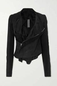 Rick Owens - Suede Biker Jacket - Black