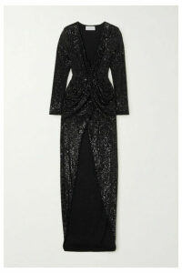 NERVI - Ada Sequined Tulle Gown - Black