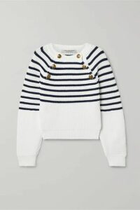 Philosophy di Lorenzo Serafini - Striped Knitted Sweater - White