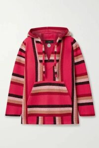Alanui - Baja Hooded Wool And Cashmere-blend Jacquard-knit Sweater - Fuchsia