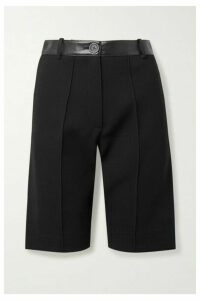 Peter Do - Faux Leather-trimmed Crepe Shorts - Black
