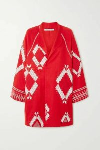 Rue Mariscal - Embroidered Cotton-voile Jacket - medium